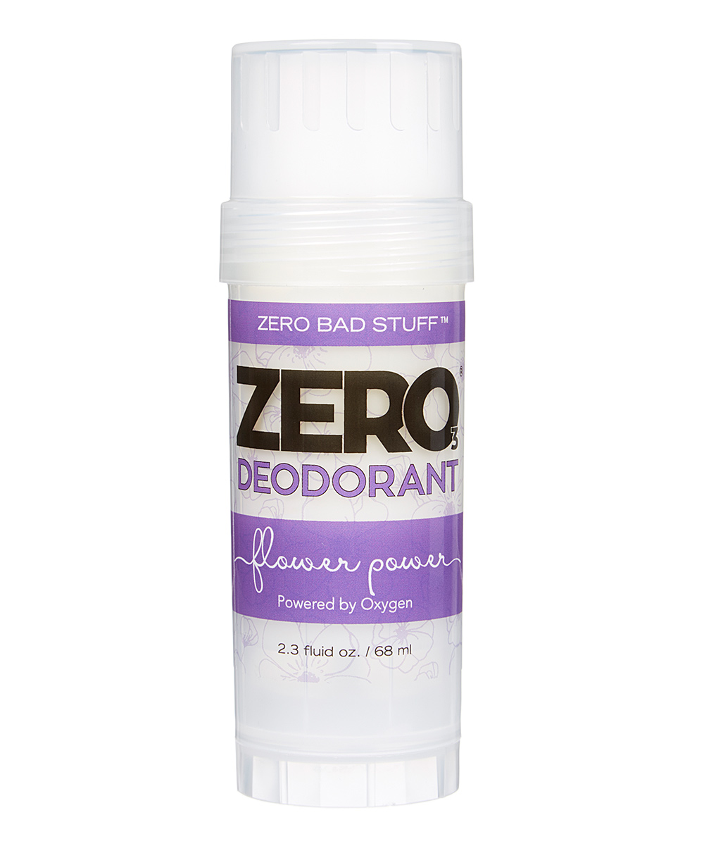 ZERO Deodorant – Oxygen Powered De-Stinkerizer – Long Lasting, All Natural, Safe for Sensitive Skin – Flower Power (Lavender & Clary Sage Essential Oils)