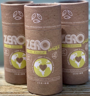 zero waste plastic free biodegradable natural deodorant