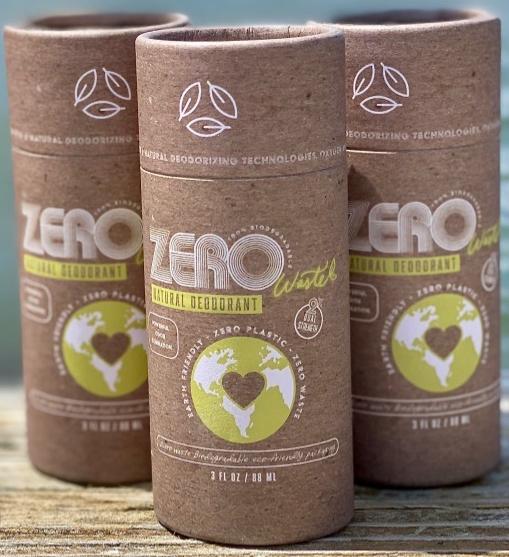 zero waste plastic free biodegradable natural deodorant